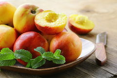 Red ripe peaches Stock Images