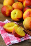 Red ripe peaches Stock Image