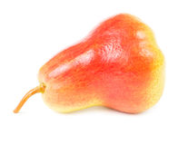 Red ripe pear isolated Stock Photo