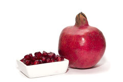Red ripe pomegranate Stock Image