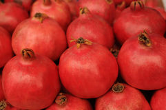 Red ripe pomegranates Royalty Free Stock Images