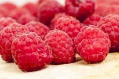 Red ripe raspberries Stock Photos