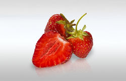 Red Ripe Strawberries Stock Photography