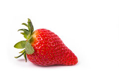 A red ripe strawberries. On a white background Stock Images