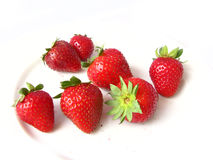 Red, Ripe Strawberries stock photography