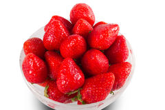 Red ripe strawberries Stock Images