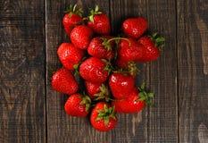 Red ripe strawberries Stock Image
