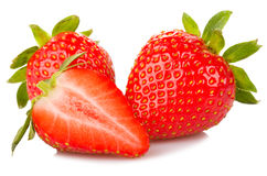 Red ripe strawberries Royalty Free Stock Images