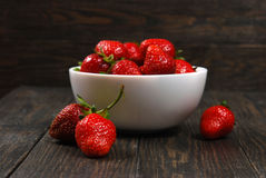Red ripe strawberries Royalty Free Stock Photos