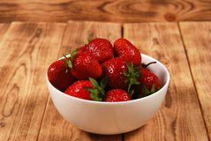 Red ripe strawberries Stock Photos