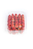 Red ripe strawberry in plastic box of packaging Stock Images