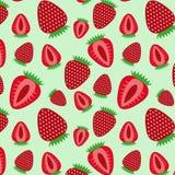 Strawberry seamless pattern. Vector illustration. Beautiful background stock illustration