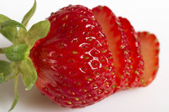 Red ripe strawberry. Royalty Free Stock Photography