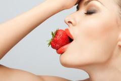 Red-ripe temptation. Royalty Free Stock Photography