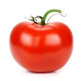 Red ripe tomato on a white background Royalty Free Stock Photos