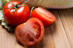 Red ripe tomatoes closeup Stock Photography