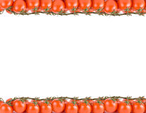 Red ripe tomatoes frame. Isolated Stock Images