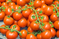 Red ripe tomatoes for sale Royalty Free Stock Photography