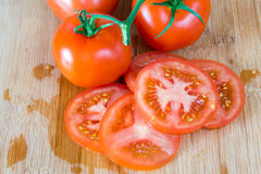 Red riped tomatoes imperfect realistic approach Royalty Free Stock Photos