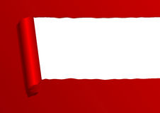 Red ripped paper sheet. With copy space Royalty Free Stock Photos