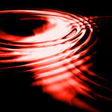 Red ripples Stock Images