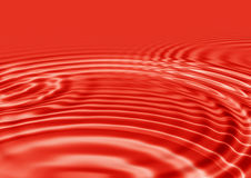 Red Ripples Stock Photo