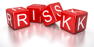 Red risk dice Stock Photo