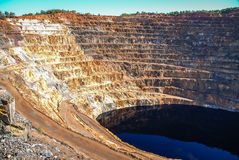 Red River минирует del rio Tinto мин Стоковые Изображения RF
