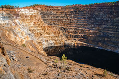 Red River минирует del rio Tinto мин Стоковая Фотография RF