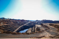 Red River минирует del rio Tinto мин Стоковое фото RF