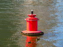 Red river buoy Royalty Free Stock Photos