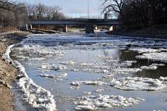 Red River en Winnipeg Foto de archivo libre de regalías