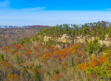 Red River Gorge. Fall colors at Red River Gorge, KY stock photo