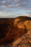 Red River Gorge Sunset Glow on Cliffs Stock Photography