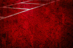 Red road parking spot grunge style for background Stock Image