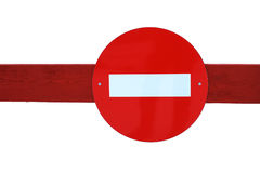 Red road sign Stock Photos