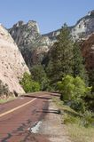 Red Road in Zion Stock Photography