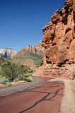 Red Road in Zion National Park, Utah, USA, Stock Image