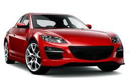 Red roadster Stock Images