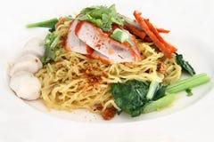 Red roast pork noodle Stock Photo