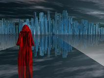 Red Robed Seeker Stock Photos