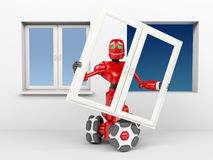 The red robot Royalty Free Stock Image