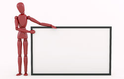 Red Robot with a big frame. Stock Photos
