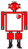 Red Robot with Heart and Boots Stock Images