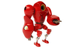 A red robot holding hands Royalty Free Illustration