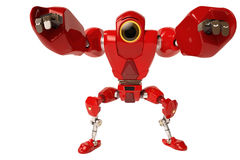 A red robot holding hands Vector Illustration