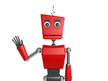 Red robot Stock Images