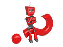 Red robot Stock Photography