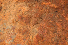 Red rock 1. From a red rusty rock with lots of different surfaces Stock Images
