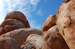 Red rock. Devil Marbles - red stones formation in Aussie outback Royalty Free Stock Images